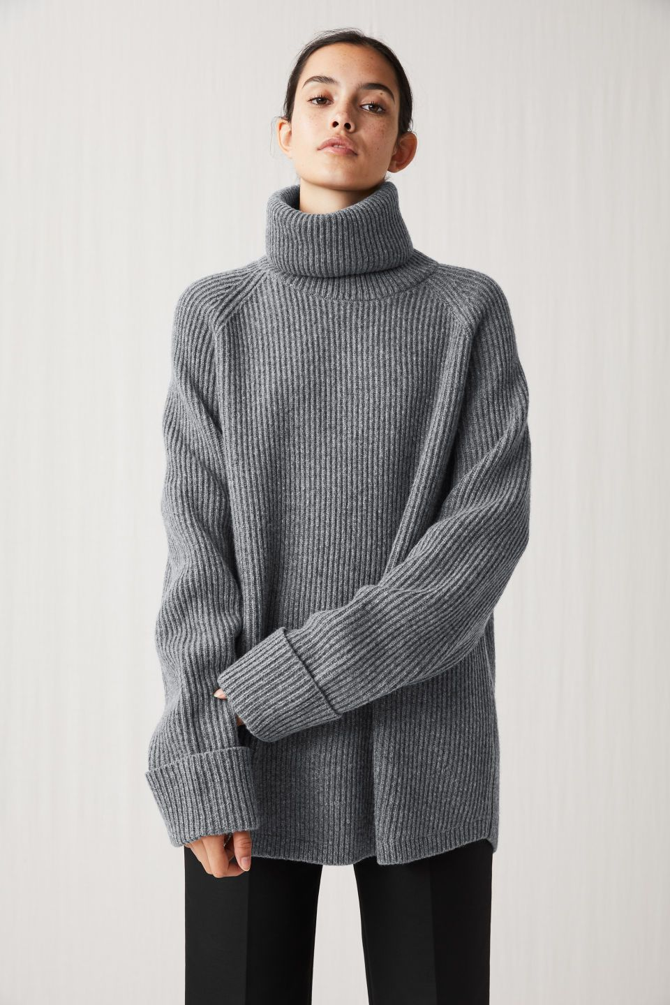 416a8a1c9 222169-020 Relaxed Turtleneck Jumper. Knitted in full cardigan ...