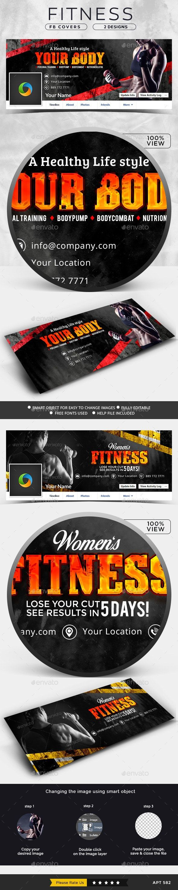 Fitness Facebook Covers - 2 Designs #Affiliate #Facebook, #Sponsored, #Fitness, #Designs, #Covers