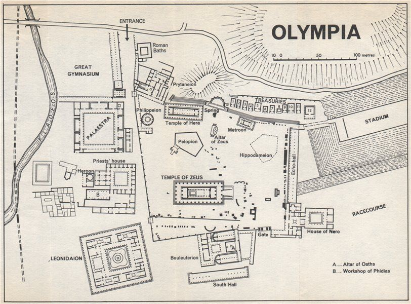 Image Result For Ancient Olympia Greece Map Map Of Greece Olympia