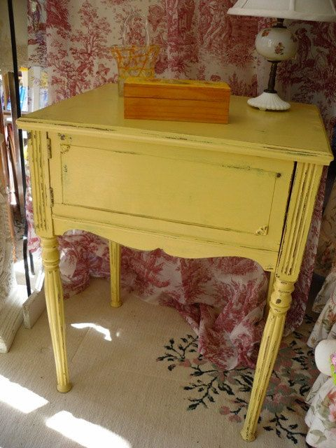 Hey, I found this really awesome Etsy listing at https://www.etsy.com/listing/211363976/vintage-painted-nightstand-butter-yellow