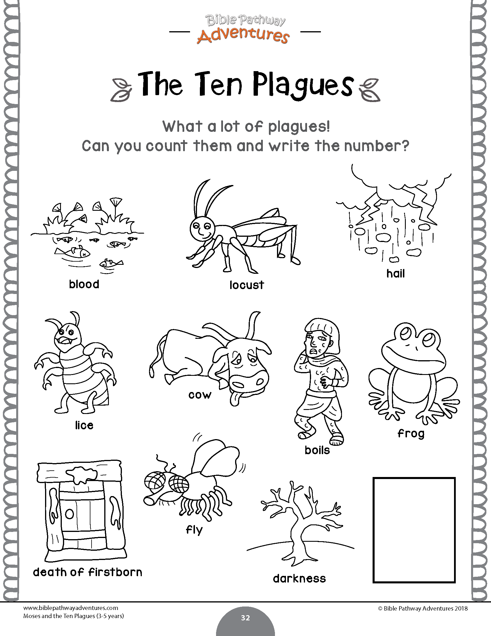 Moses And The Ten Plagues Activity Book Amp Lesson Plans For Kids Ages 3 5
