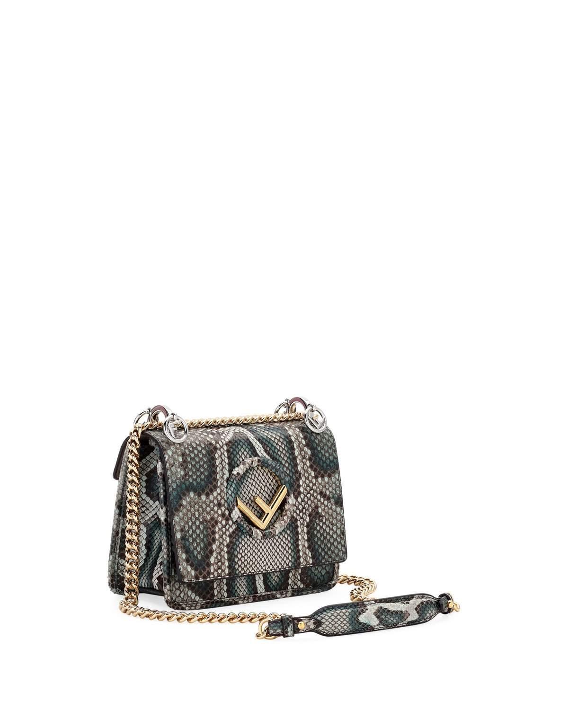 Fendi F Logo Kan I Small Python Shoulder Bag   Products   Pinterest ... 9c703221e0