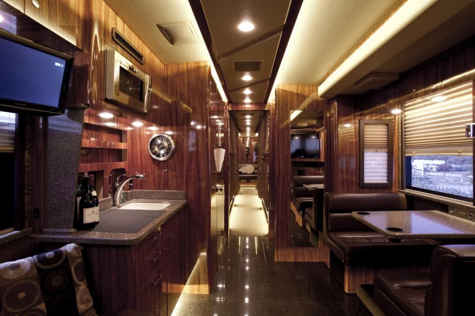 Take A Peek Inside The Most Luxurious Celebrity Tour Buses And