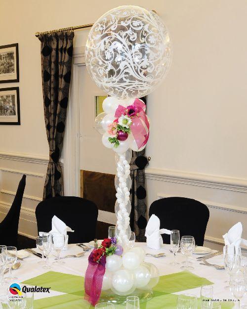 Elegant Wedding Balloon Columns