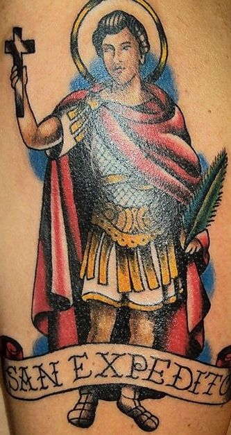 San Expedito Traditional Tattoo Tatoo Pinterest Tattoo Fonts