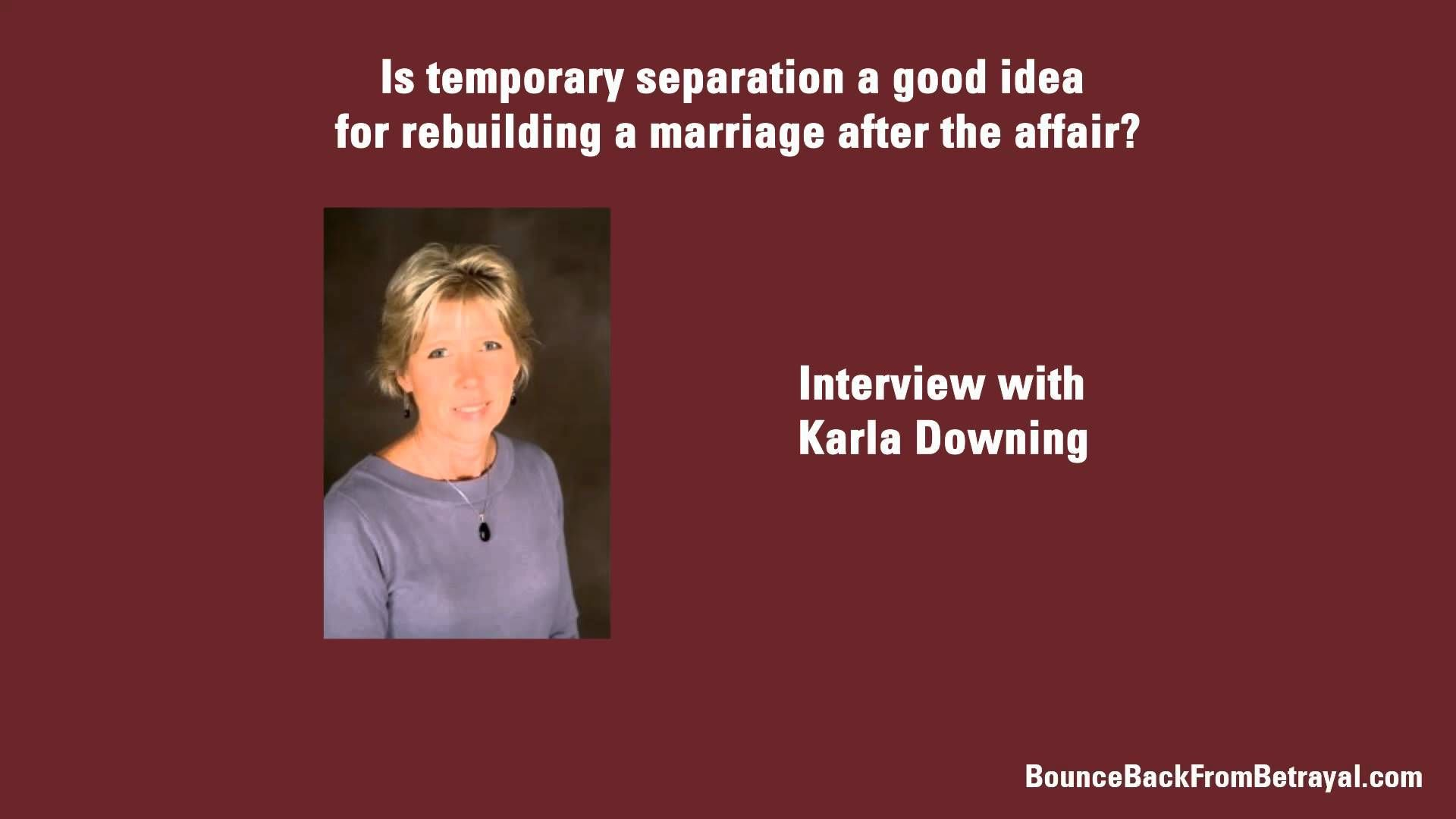 When separation is good for marriage