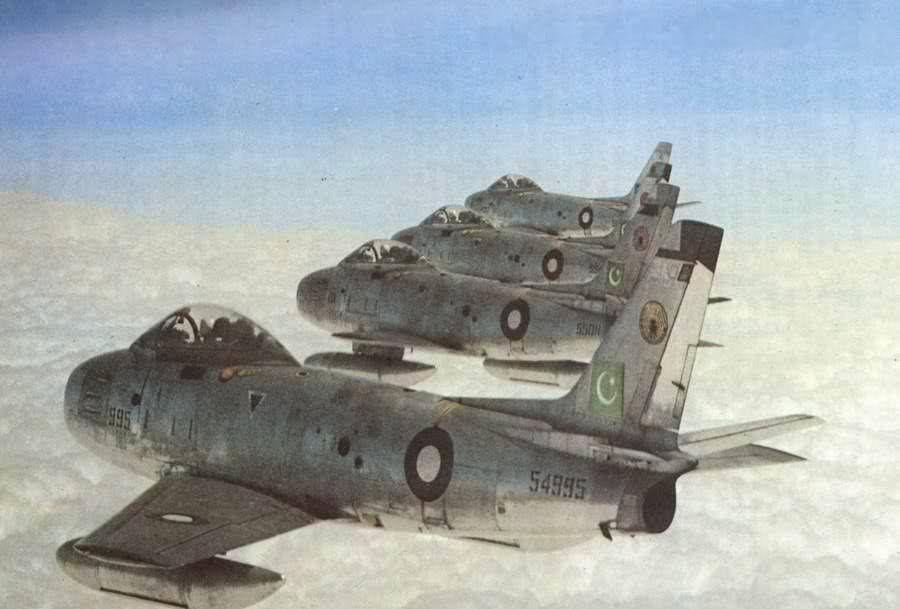 Pakistan Air Force F 86 Canadair Sabres 1971 F 86 Sabre