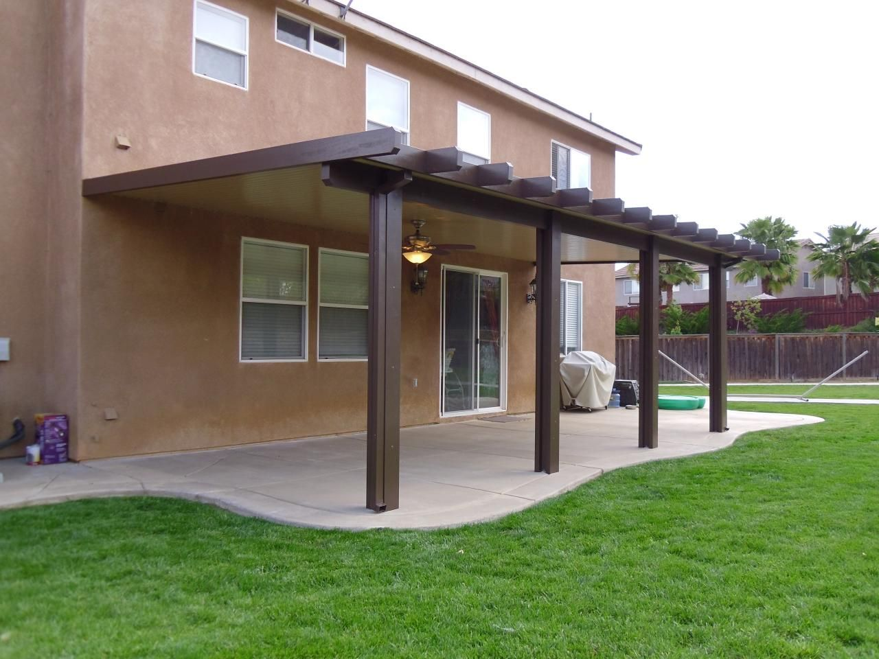 Good Make Your Shady Patio With Alumawood Patio Covers Ideas: Cool Alumawood  Patio Covers In Brown