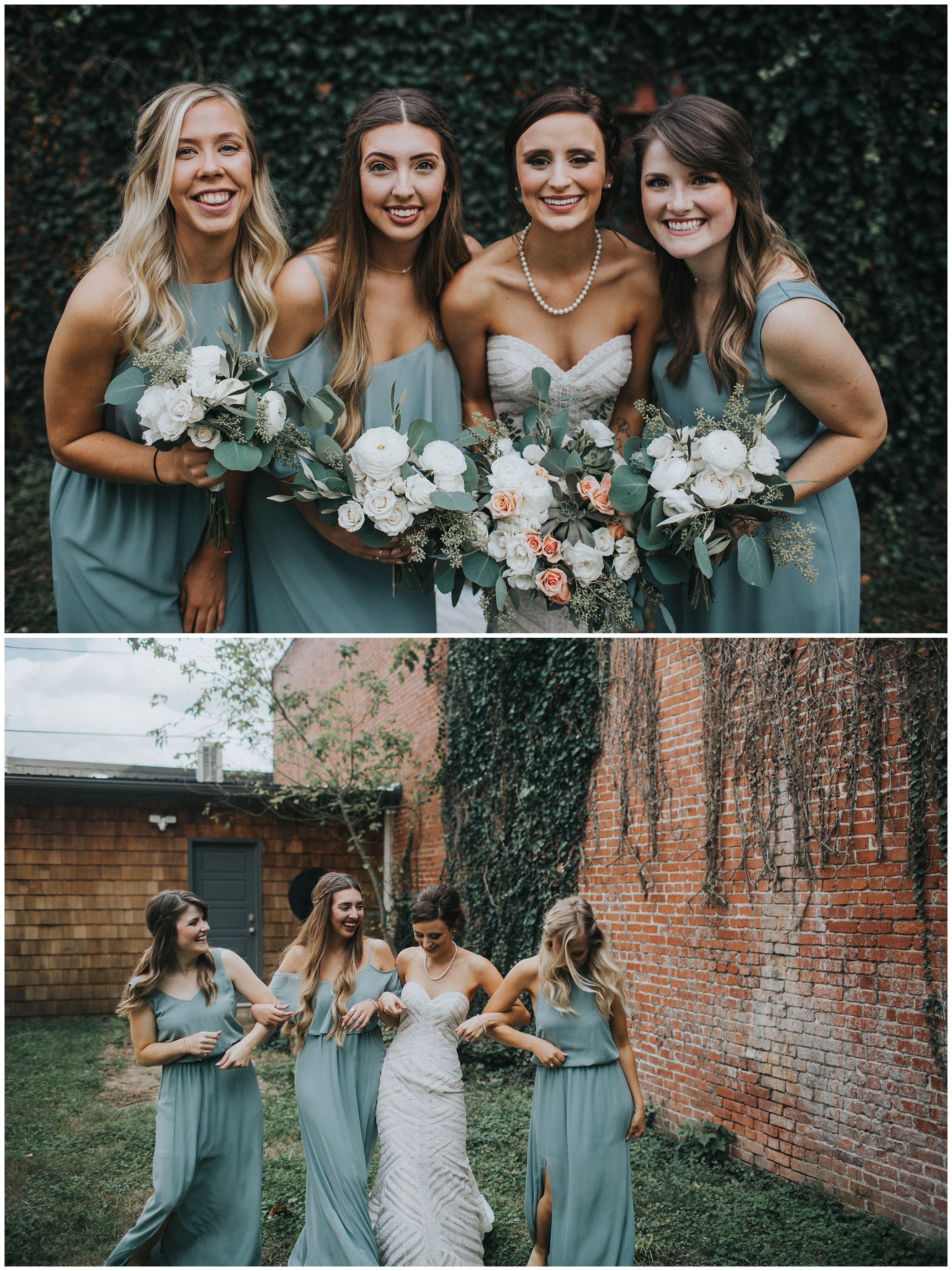 Sage Green Mismatched Bridesmaids Dresses Wedding Inspiration By The Johnsons Wedding Photogra Sage Bridesmaid Dresses Wedding Photography Bridesmaid Dresses