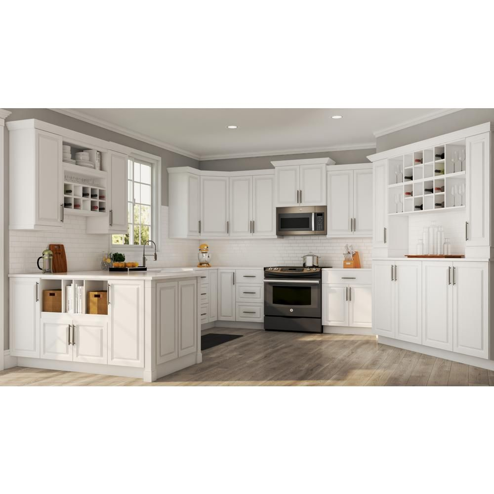 Hampton Bay Hampton Assembled 28 5x34 5x16 5 In Lazy Susan Corner Base Kitchen Cabinet In Satin Custom Kitchen Cabinets Kitchen Design Kitchen Cabinet Remodel
