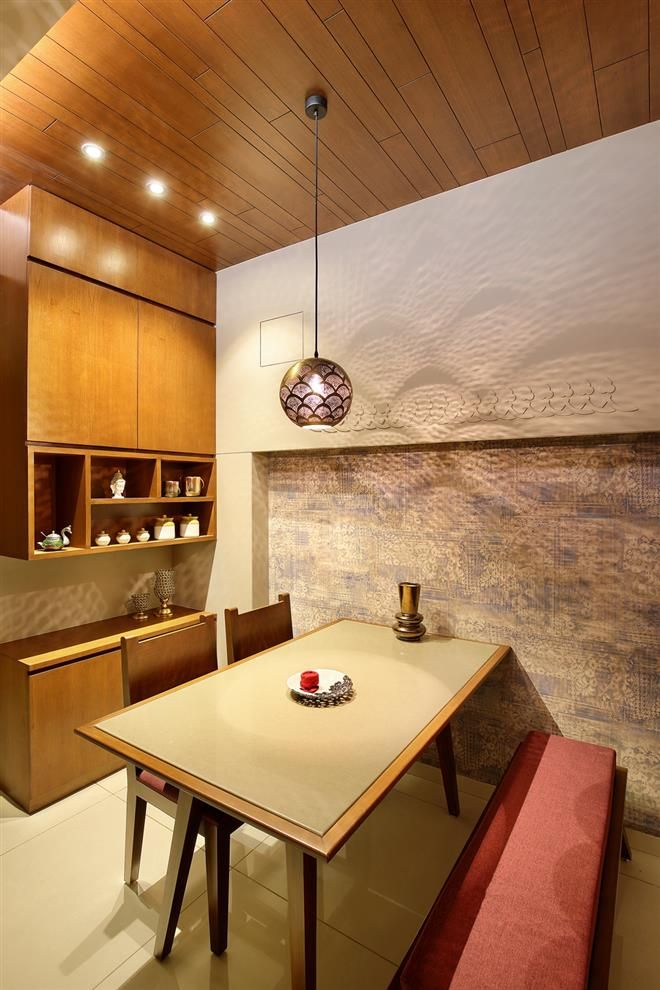 3bhk Luxury Apartment Dining Room Contemporary Dining Room