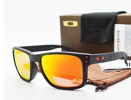 Sunglasses 79720: New Authentic Oakley Holbrook Sunglasses Oo9102-36 Matte  Black Fire Iridium Lens