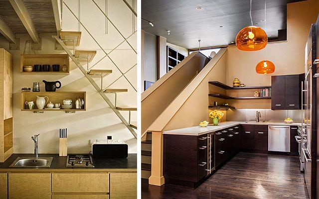 Decofilia blog aprovechando el espacio bajo la escalera for Escaleras cocinas pequenas