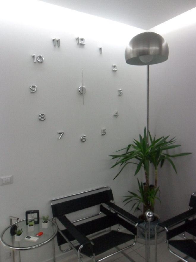 IDEA REGALO ULTIMI PEZZI OROLOGIO a parete BALVI numeri da attaccare Acciaio