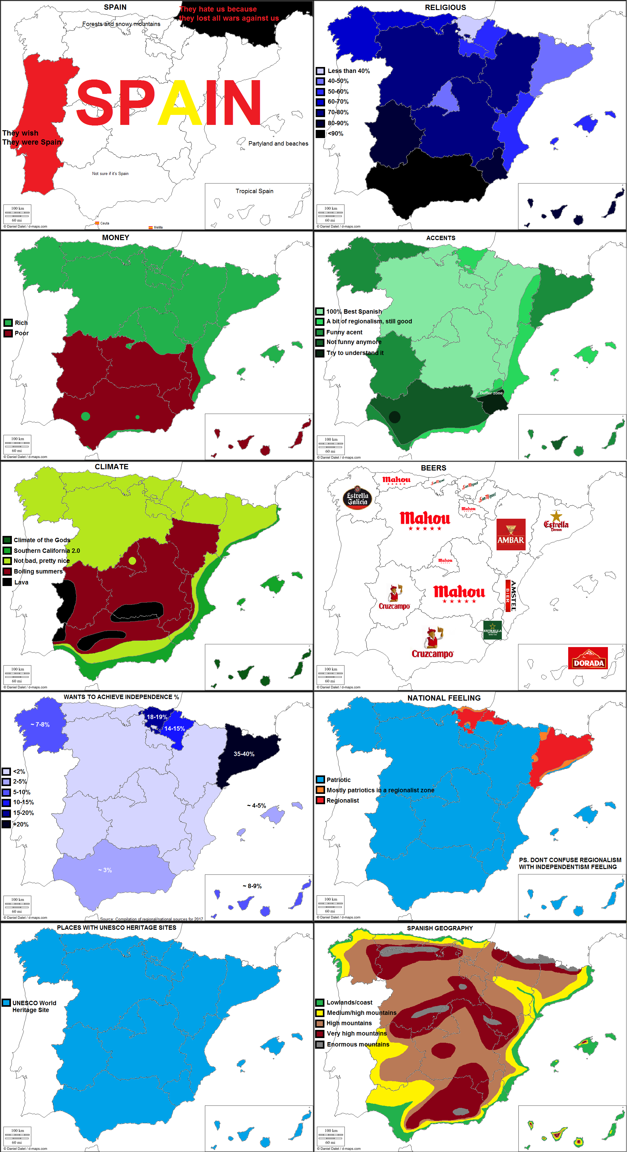 10 ways to divide Spain   Maps   Spain, Historical maps, World geography