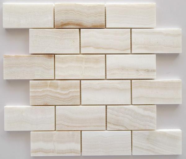 How To Cut Decorative Tile 2 X 4 Premium White Onyx Veincut Polished Brick Mosaic Tile