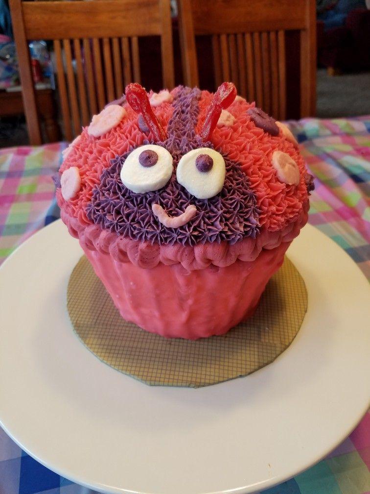 Katies First Birthday Smash Cake Ladybug