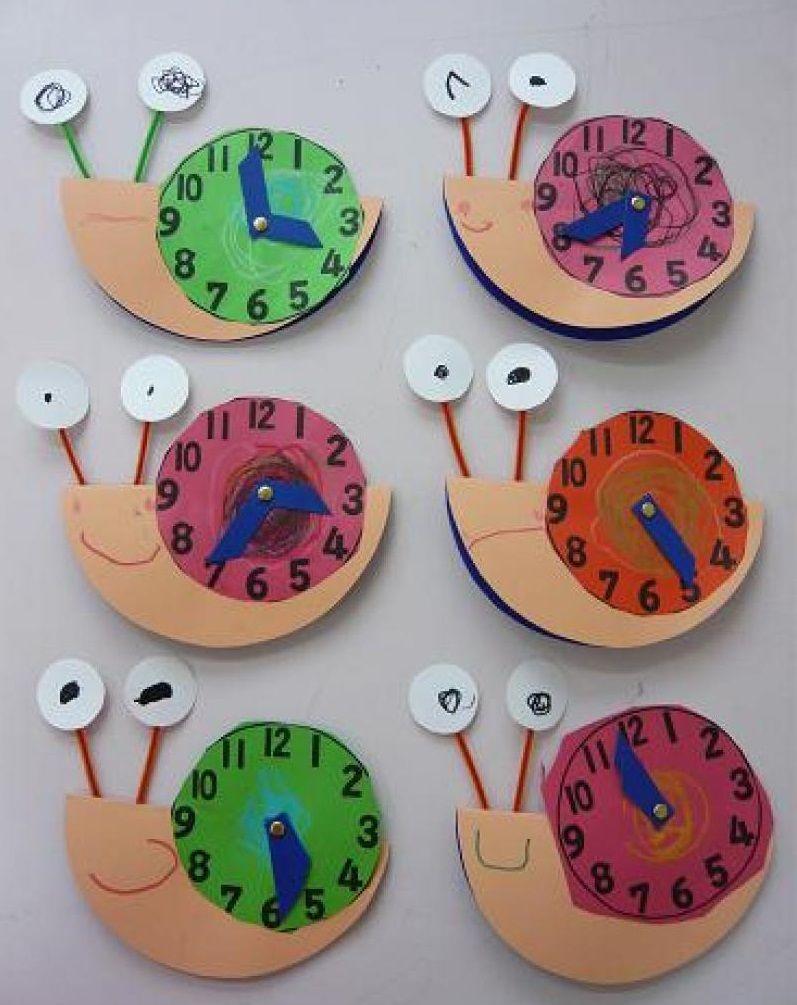 Snail clock craft 1 snail craft ideas pinterest for Clock ideas