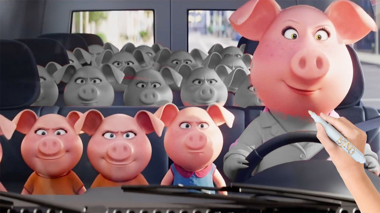 Rosita And Her 25 Piglets From Sing 2016 Animated Movie
