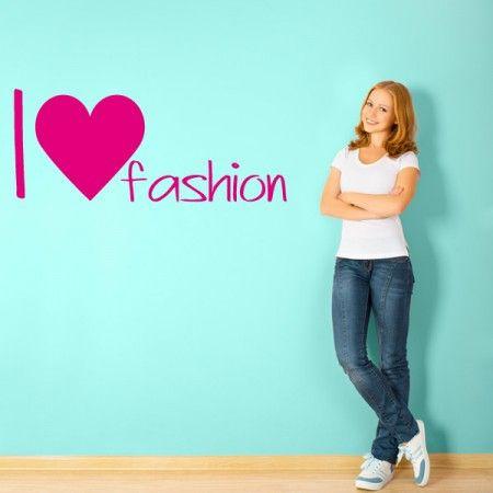 Verschönere Dein Zimmer Mit Den Schriftzügen I Love Fashion Wandtattoo.  #Love #Fashion #