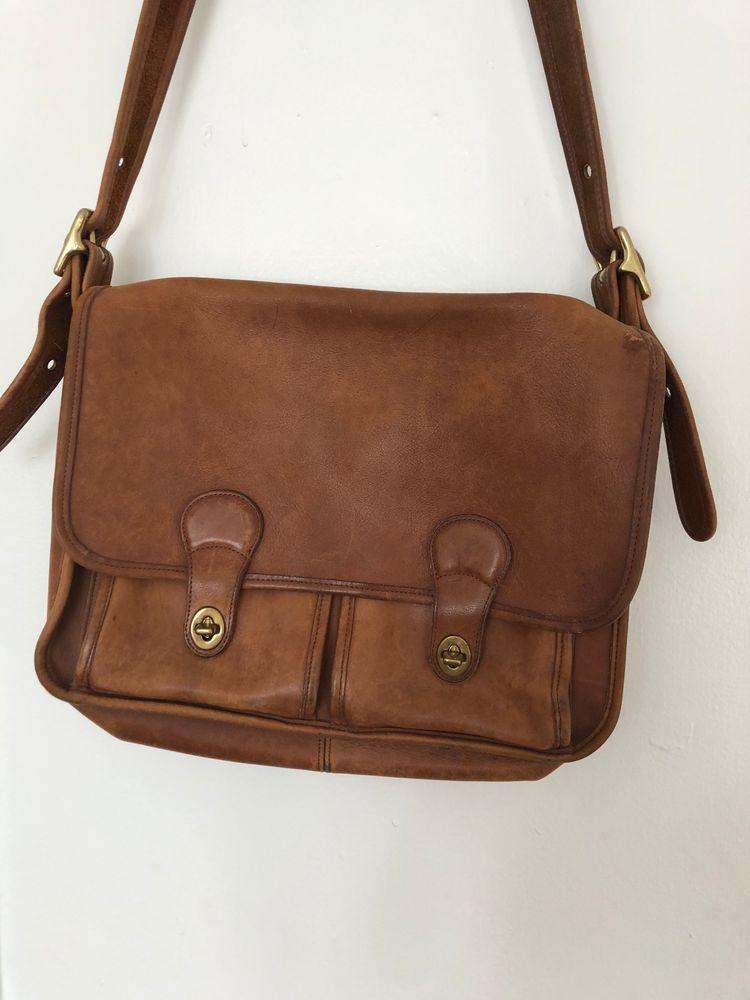 Coach vintage leather messenger crossbody bag coach