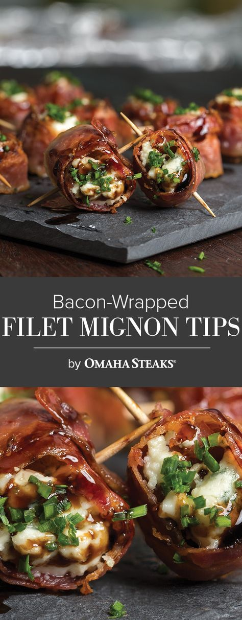 Bacon Wrapped Tenderloin Tips With Maytag Cheese Recipe