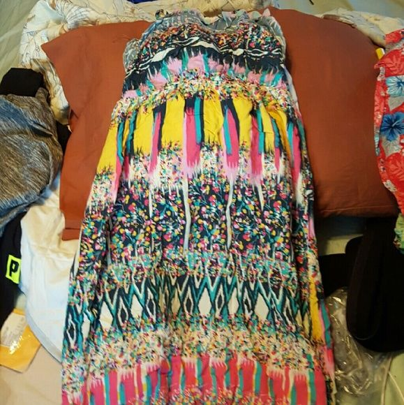Children Colorful Dress Its A Size 14 Kids Spaghetti Strap Open Back Dress   If You're Not So Tall Like Me You Could Probably Fit This Comfortably Or If You Just Wanted To Buy It For Your Daughter Dresses Maxi