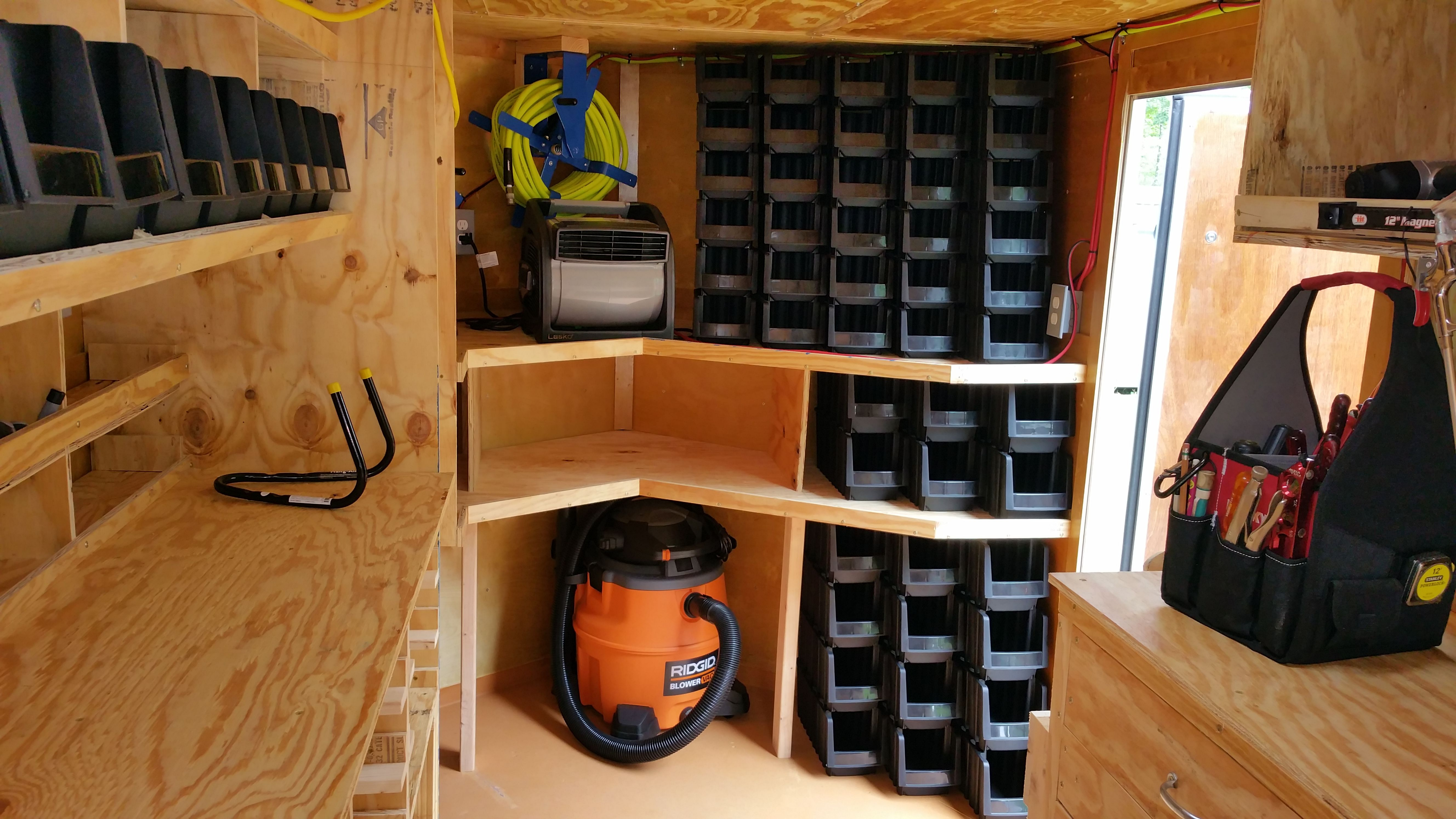 Pin By Robert Guillory On Rolling Toolbox Work Trailer Trailer Organization Enclosed Trailers
