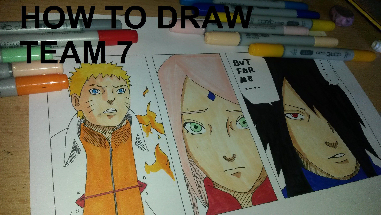 how to draw naruto and sakura