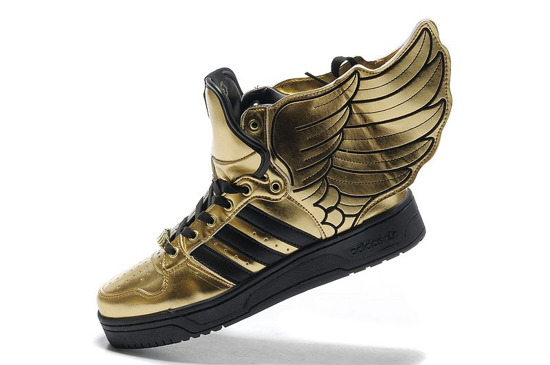 Adidas Jeremy Scott Wings 2.0 Black Gold Shoes For Sale