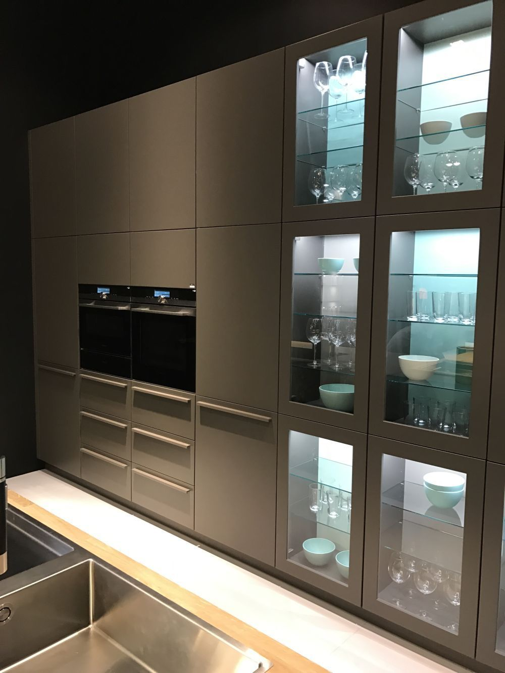 All Glass Cabinet Doors Frosted Glass All The Cabinets Feature Glass Panels Instead O Glass Kitchen Cabinet Doors Kitchen Cabinet Styles Glass Kitchen Cabinets