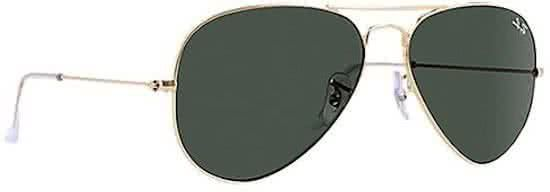 1134afbac5b Ray-Ban RB3026 L2846 - Aviator (Classic) - zonnebril - Goud   Groen ...