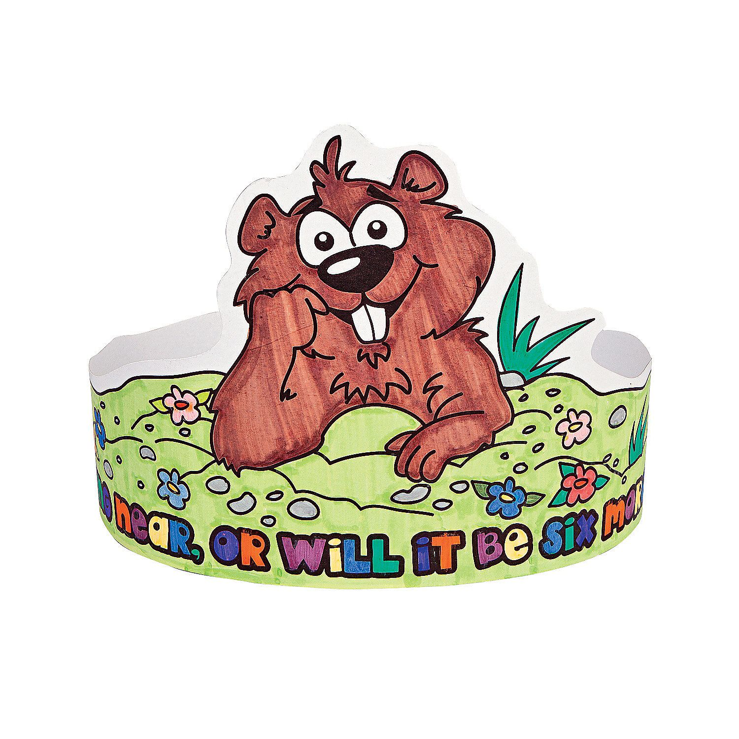 12 Color Your Own Groundhog Day Crowns