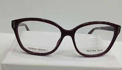 Giorgio Armani GA818 Col LHF Burgundy Plastic Eyeglasses Frame 54mm 18mm 140mm