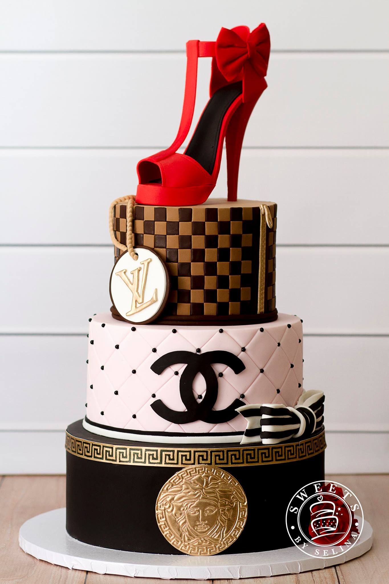 Wondrous Sweets By Selina 21St Birthday Cakes Make Birthday Cake Chanel Funny Birthday Cards Online Fluifree Goldxyz