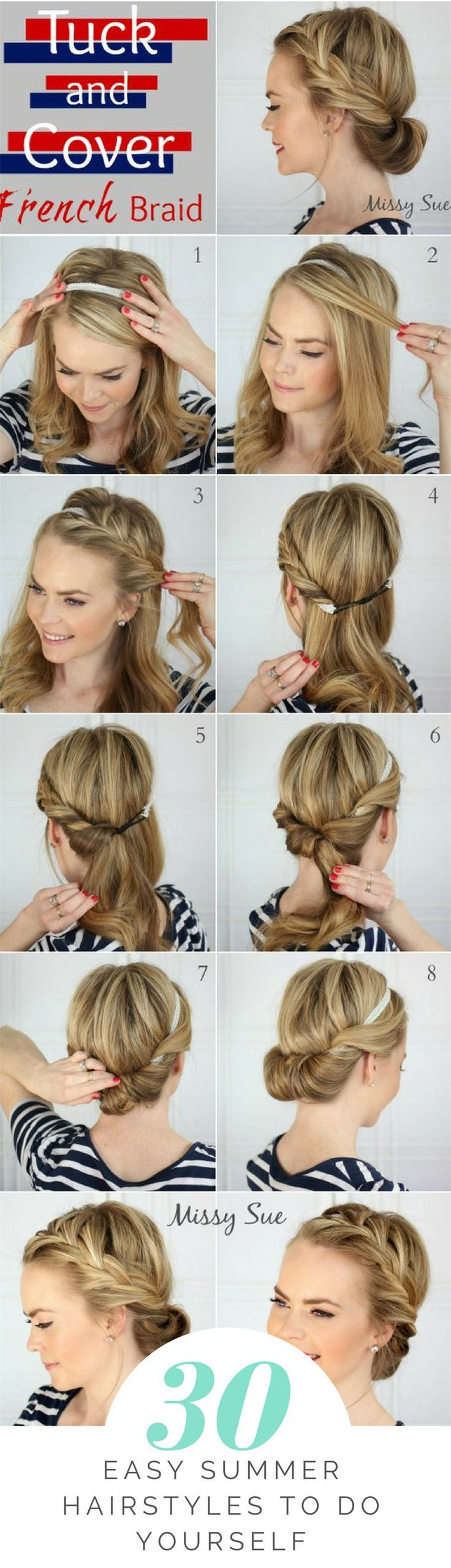 easy summer hairstyles to do yourself beautifully braided hair