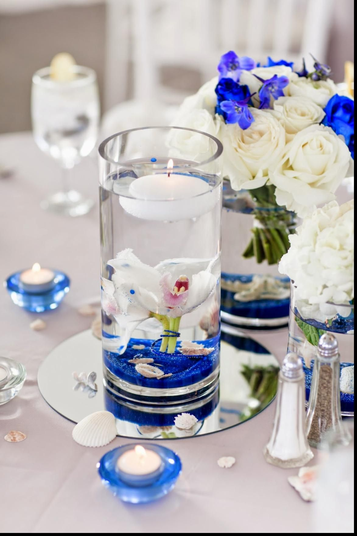 DIY beach themed wedding centerpiece. | Cylinder Vases ...