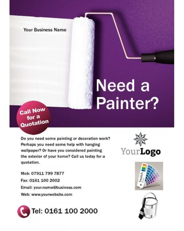 Painters And Decorators A6 Leaflets Template Designs We Like