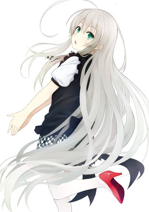Pixiv Spotlight High Heeled Girls Anime Pictures Girl Silver Hair