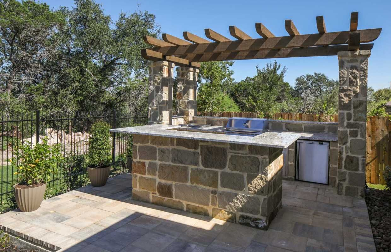 backyard in 2019 Home builders, Outdoor living areas