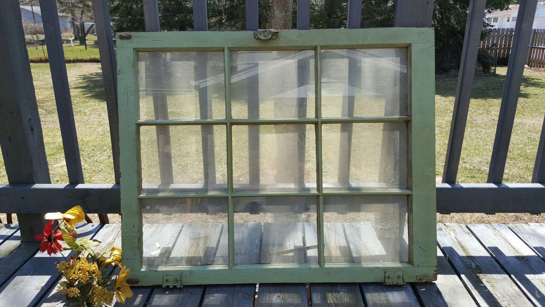 Old Window Frame Decor Vintage Rustic Weathered Window Frame 9 Pane Old Reclaimed Window