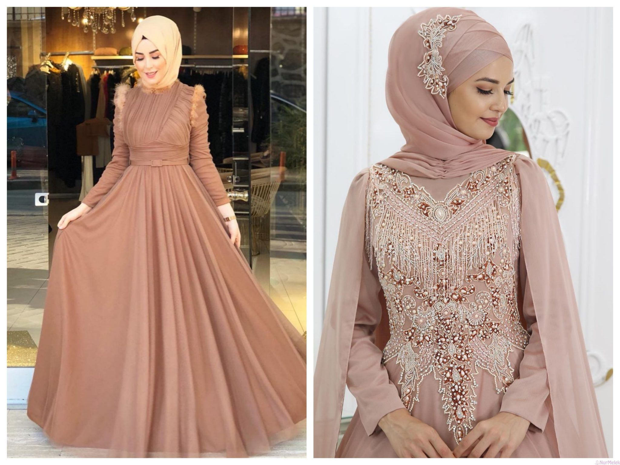 Renklere Gore Tesettur Abiye Esarp Sal Kombini 2020 Moda Stilleri Elbiseler Elbise