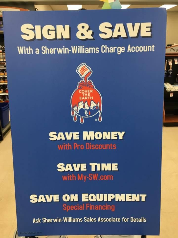 This Is A Poster For The Sherwin Williams Credit Account