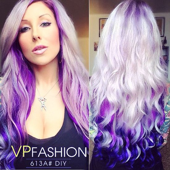 Colorful Hair Extensions At Blog Vpfashion Purple Locks Colors White Ombre For 2017 Looks