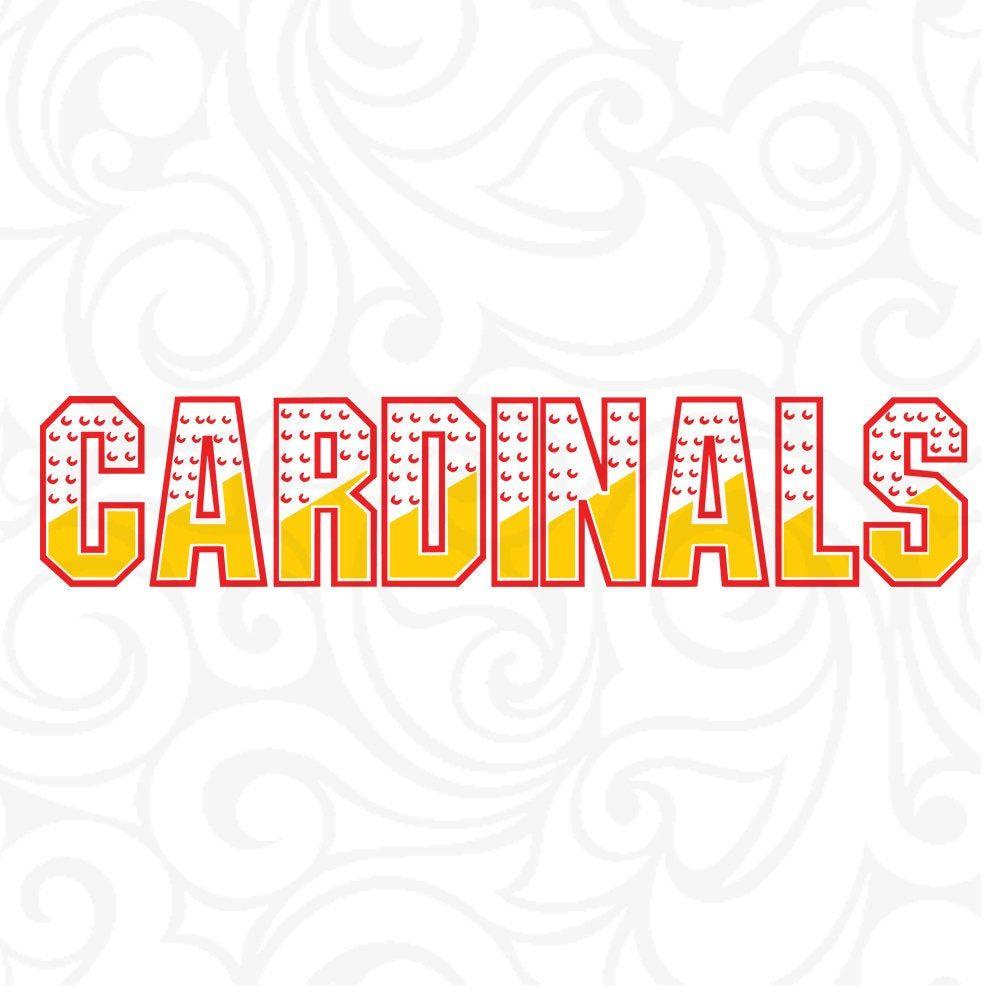 Cardinals Football Cutting File Football SVG Cricut Instant Download Cardinals SVG Cardinal Football svg pattern DXF File dxf pattern