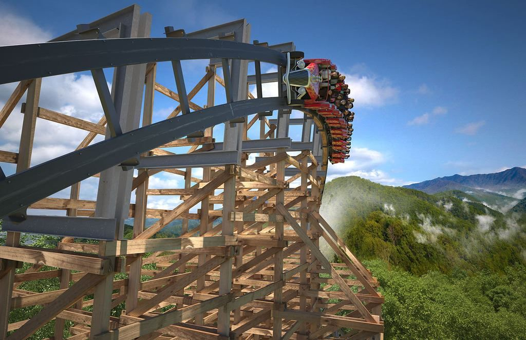 Dollywood has FINALLY opened Lightning Rod, the world's fastest wooden rollercoaster!