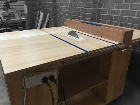 building 4 in 1 workshop homemade table saw router table disc sander jigsaw table youtube. Black Bedroom Furniture Sets. Home Design Ideas