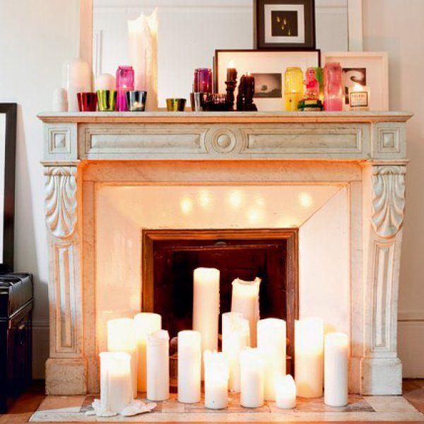 d tourner une chemin e nos meilleures id es d co autel la chemin e et les bougies. Black Bedroom Furniture Sets. Home Design Ideas