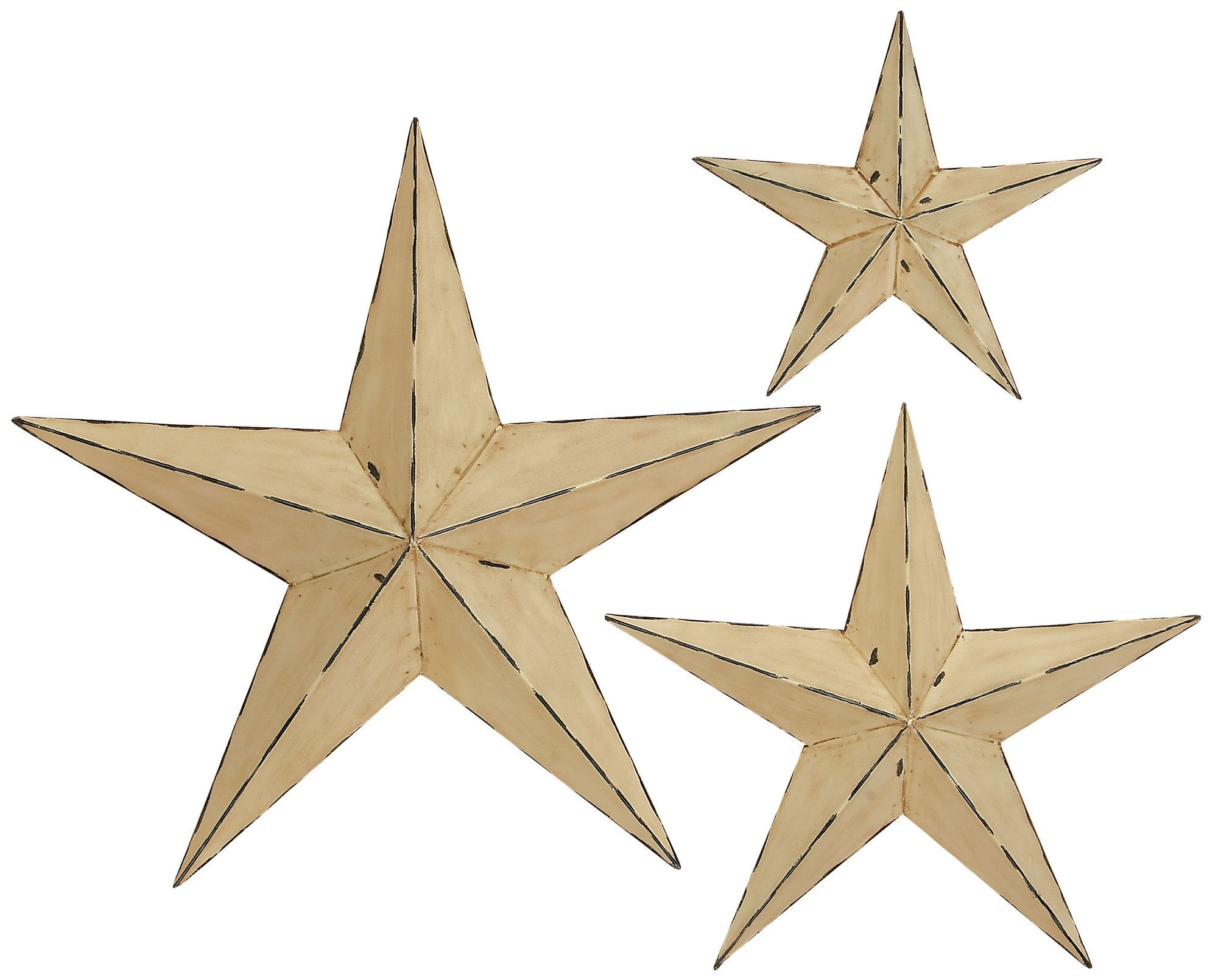 3 Piece 3 Dimensional Stars Wall Décor Set | Star wall and Products