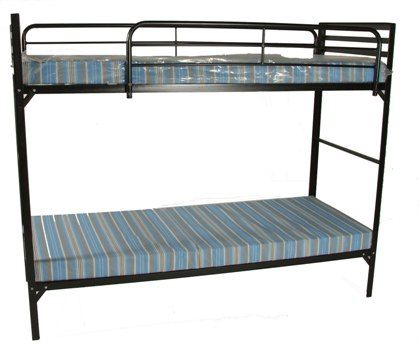 Camp Style Institutional Bunk Beds W Mattresses Bunk Bed